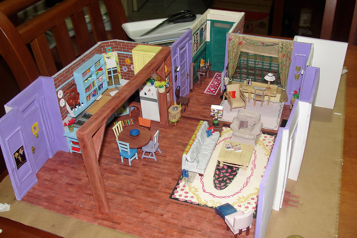 Amazing Miniature Model Of Monica S Apartment In The Tv Series Friends Made Of Paper