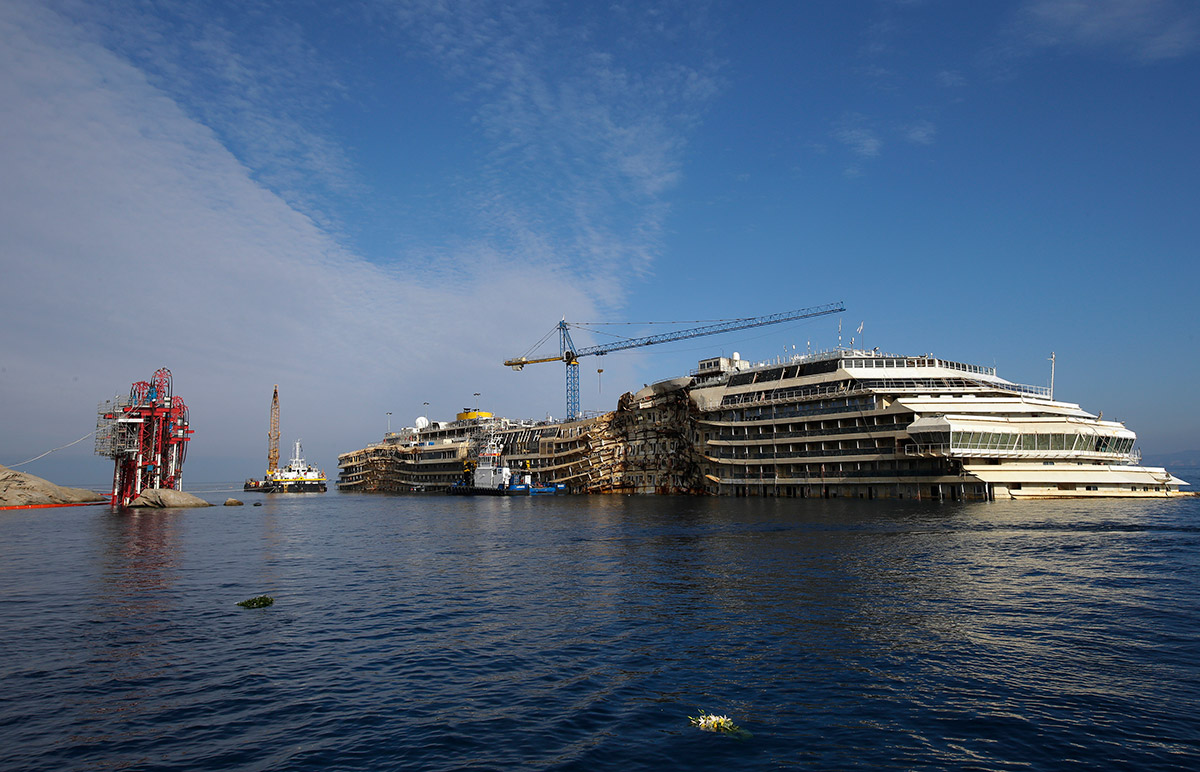 Costa Concordia Second Anniversary Cruise Ship Disaster In Pictures
