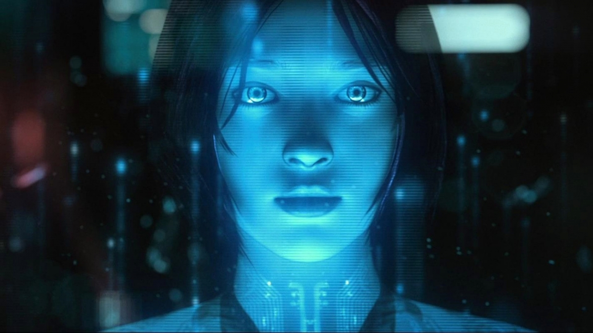 Cortana based on the artificial intelligence character from the halo