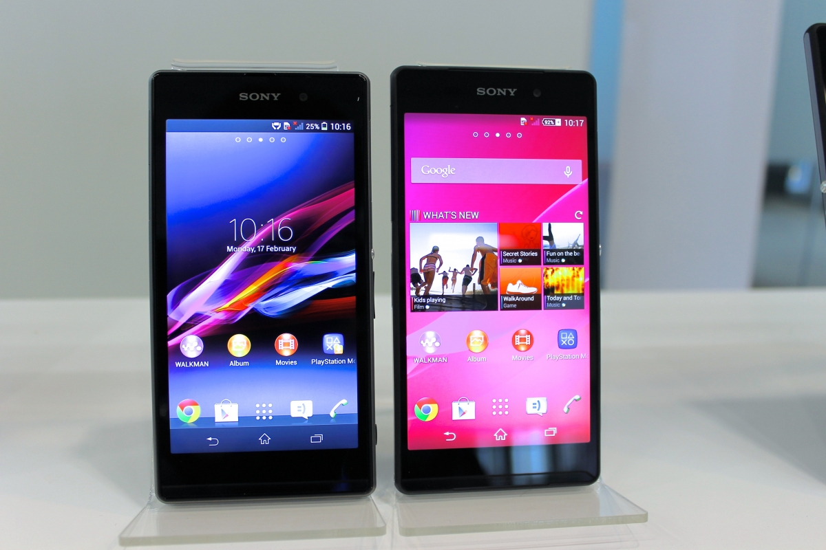 Sony Xperia Z1  left  vs Xperia Z2  right  IBTimes UKXperia Z1 Vs Xperia Z2