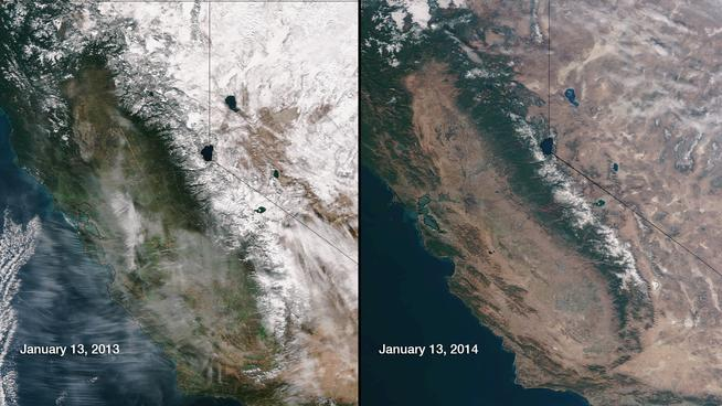 California drought from Space