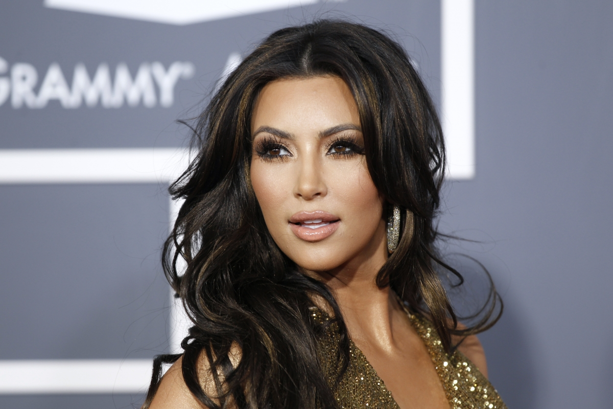 Kim Kardashian enjoys her moment of glo