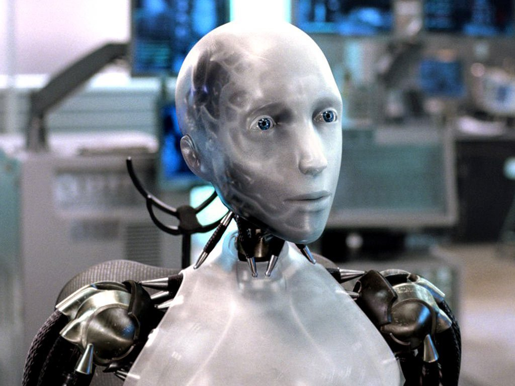 "Sonny, a sentient humanoid robot from the Will Smith film ""I,Robot"""