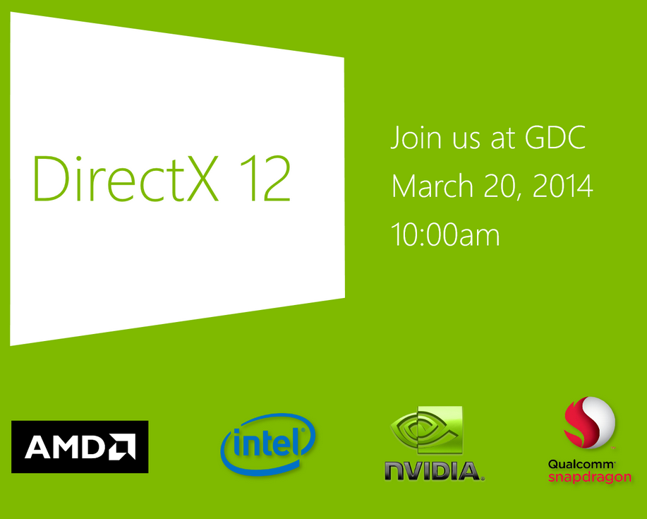 Microsoft DirectX 12 to be Unveiled at GDC 2014