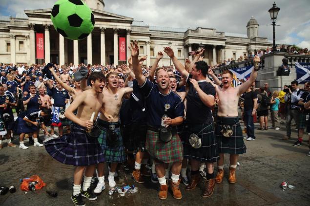 Suspected Scottish football hooligans have been arrested seven months ...