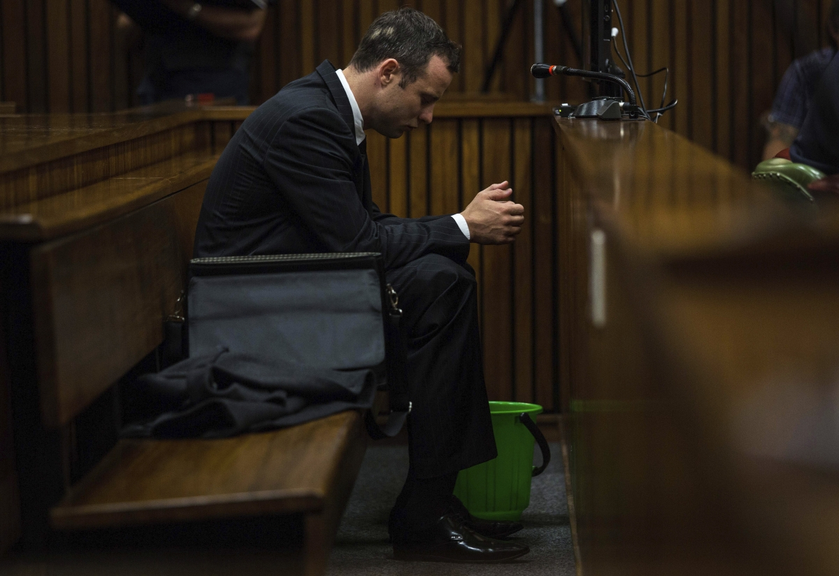Oscar Pistorius in court of day seven of his murder trial heard lawyer Barry Roux question testimony of Prof Gert Saayman