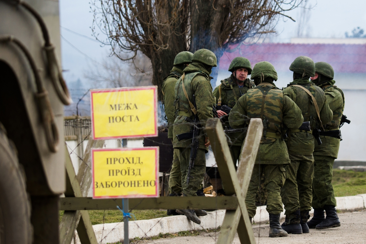 Ukraine Crisis Kiev Rules Out Military Action against pro-russian troops in Crimea