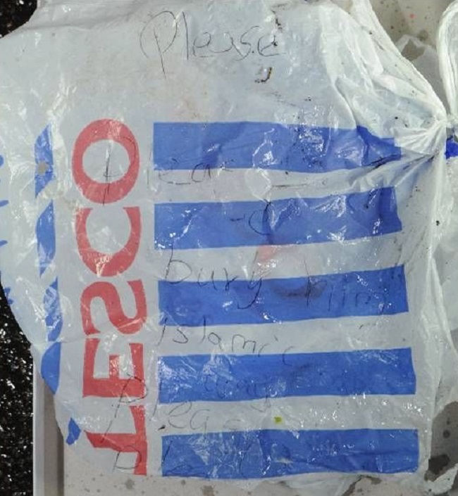 Tesco carrier bag baby from Bolton was found in