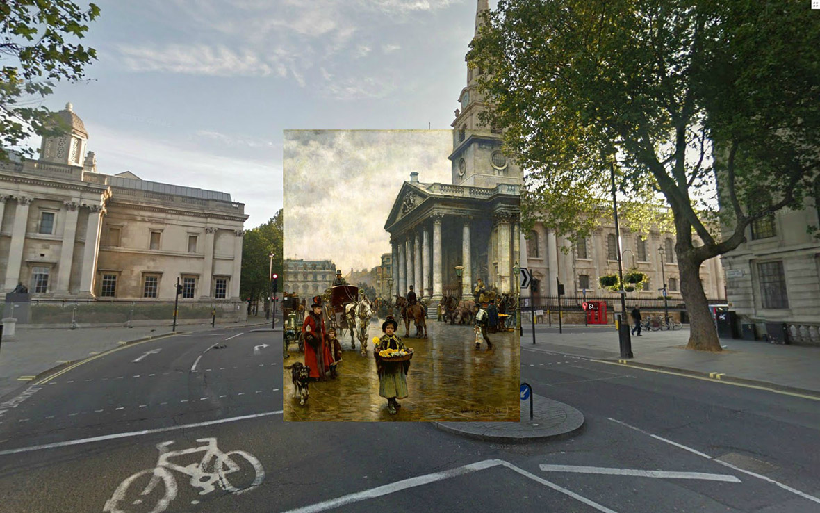 Historic london paintings remixed with 21st century google for Classic house old street london