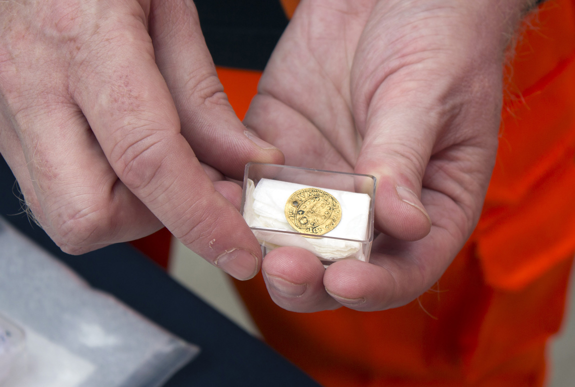 Crossrail discovered a solid gold coin from Venice at the Liverpool Street construction site