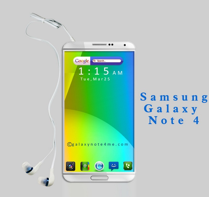 Samsung Galaxy Note 4 Exynos 5433 and Snapdragon 805 Variants Spotted    Galaxy Note 4 Concept