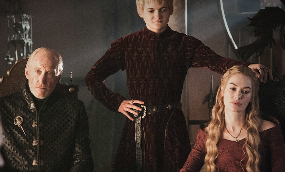 Tywin, Joffrey and Cersei of House Lannister