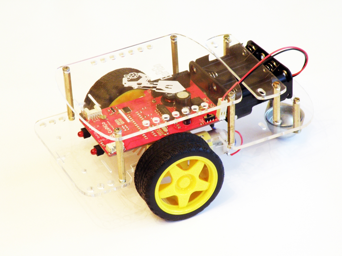 GoPiGo robot kit, costing under $100 and power