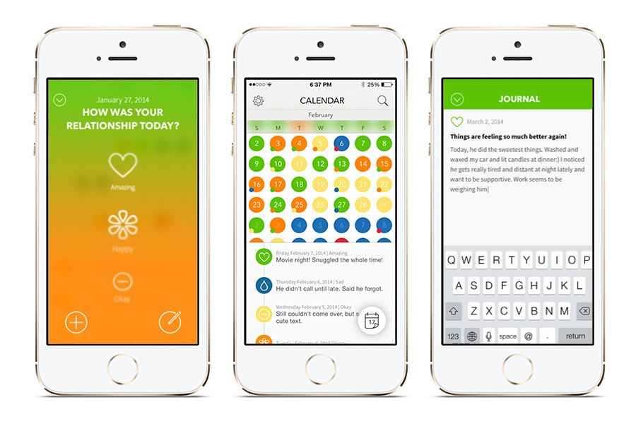 The Boyfriend Log - An app to help women break out of co-dependency issues and abusive rel