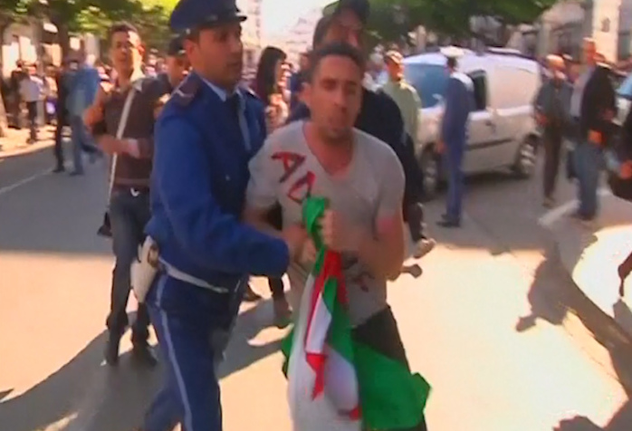 Police Break Up Protest against Algerian President