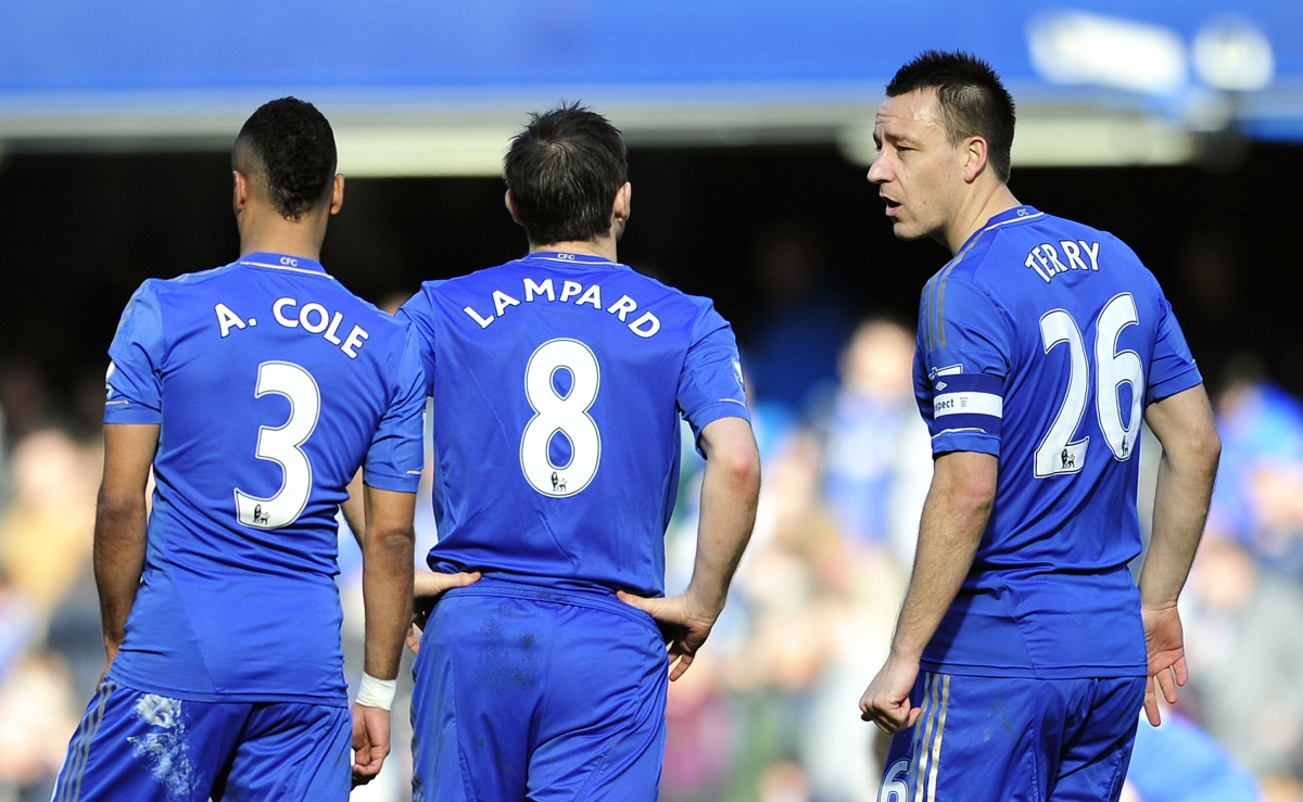 John Terry, Frank Lampard and Ashley Cole