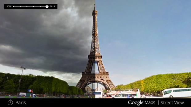 Street View Google Maps Time Travel