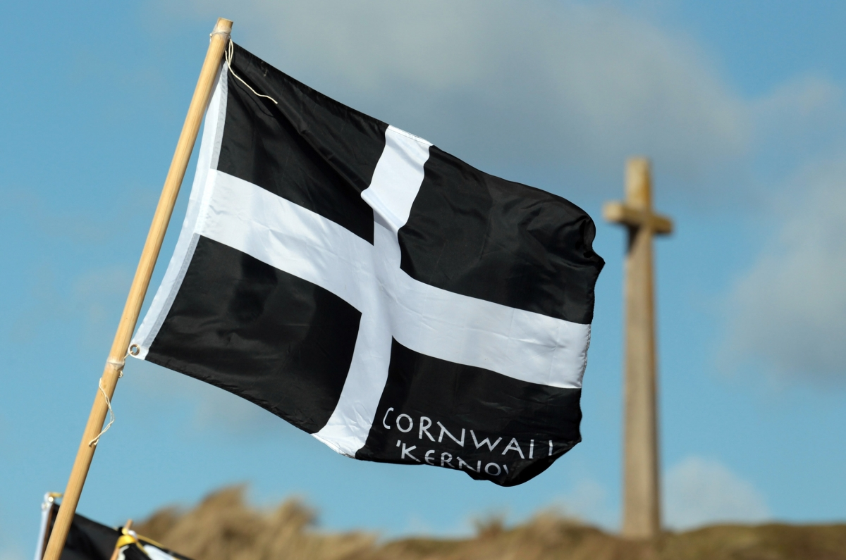 St Piran flag Cornwall