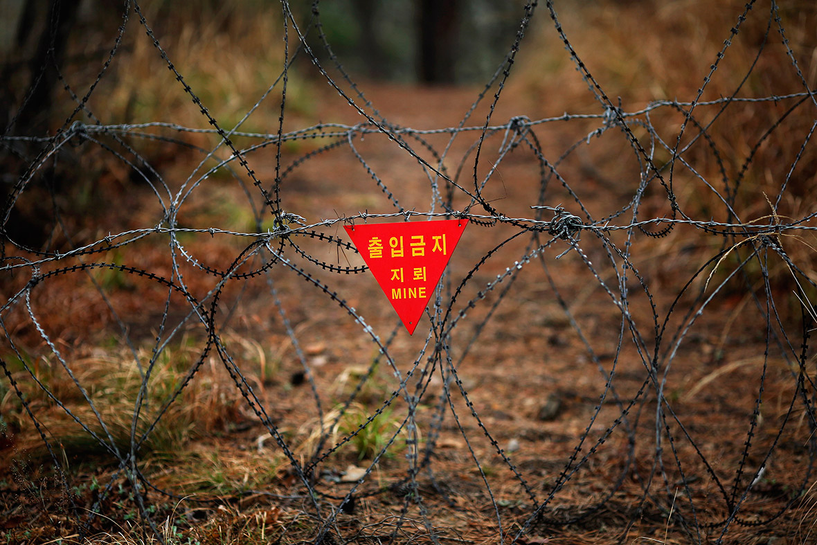 mine barbed wire