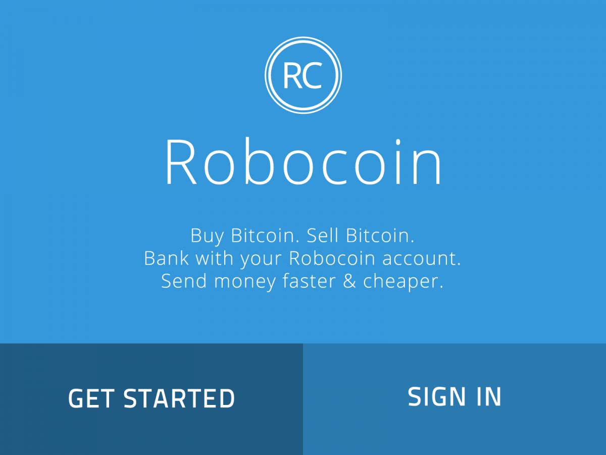 Robocoin מסך