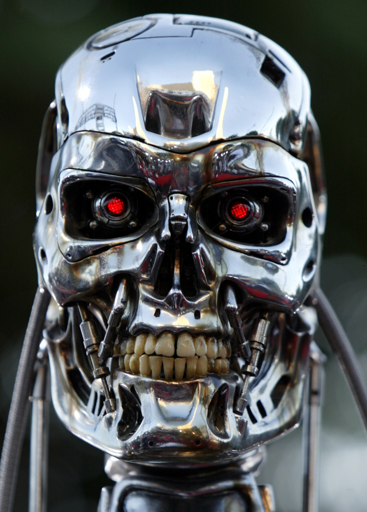 Model of the killer robot from the movie Terminator 3. (Reuters)