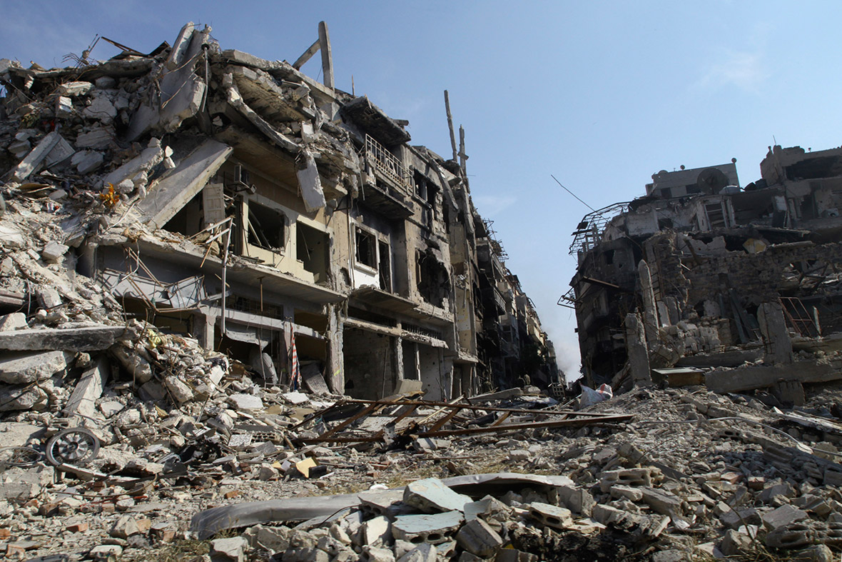 Destroyed buildings in syria images - Intire decrution ...