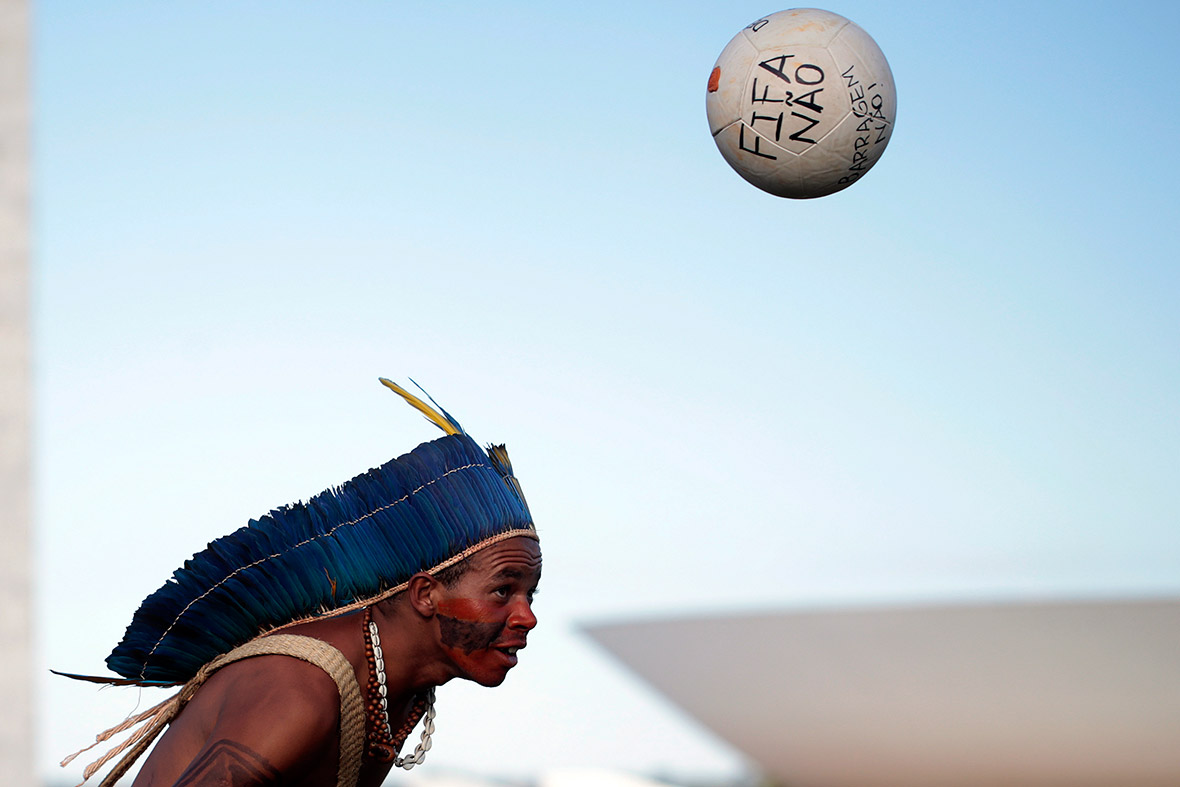 Brazil World Cup indigenous FIFA Nao