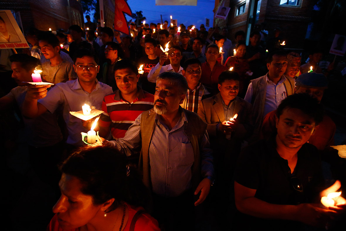 candle light vigil Nepal