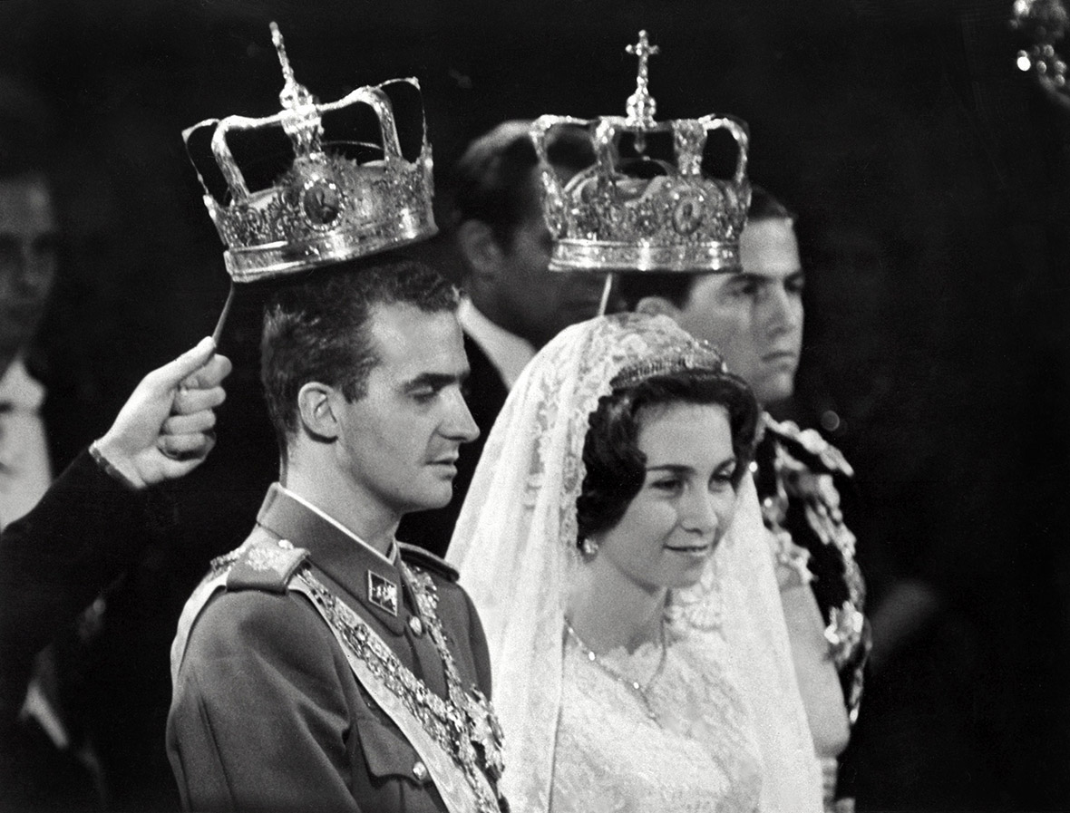 14 May 1962: Prince Juan Carlos of Spain marries Princess Sophia of Greece and Denmark, in Athens. Queen Sofi­a was born in Athens on 2 November 1938, the first daughter of King Paul I of Greece. Her family was forced to flee Greece during World War II. She was Greek Orthodox but converted to Roman Catholicism