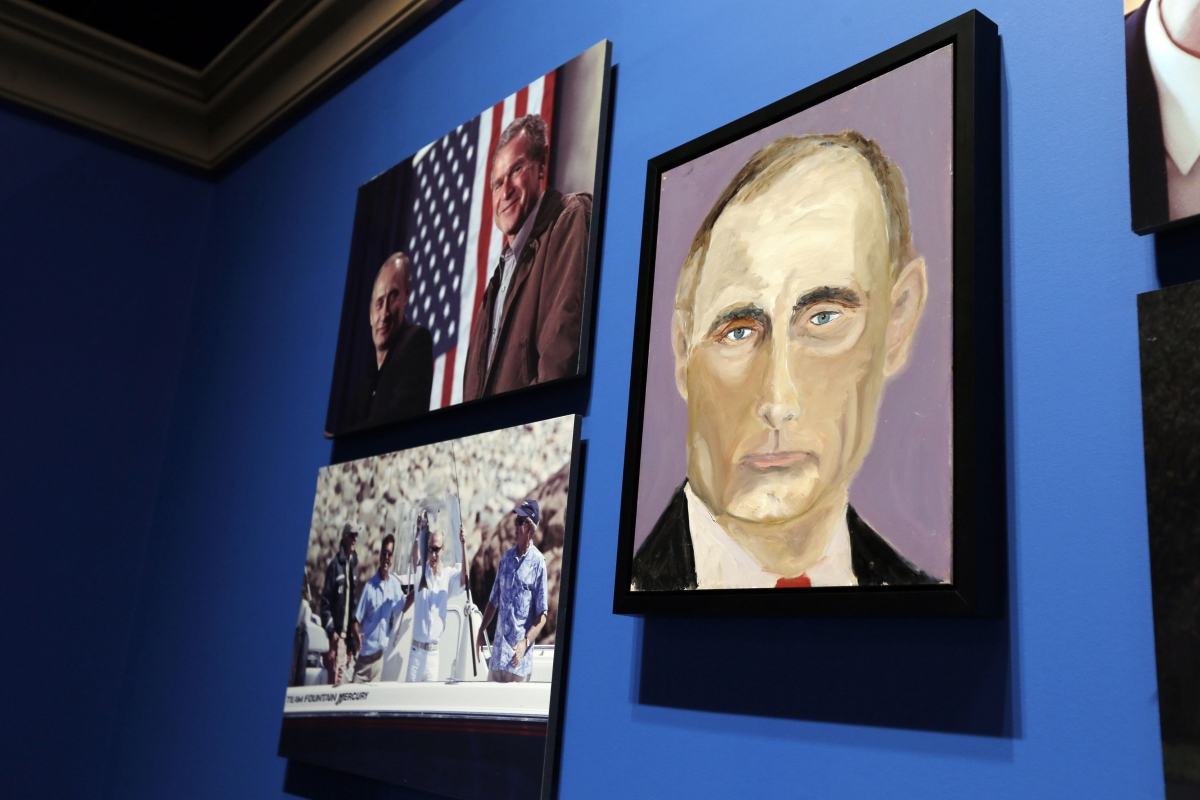 Hacker who stole nude self portraits of george w bush for George bush painting