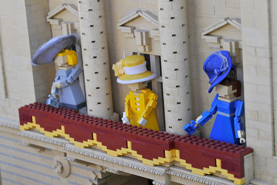 Lego Figures Of The Royal Family Wear Tiny Hats Created By