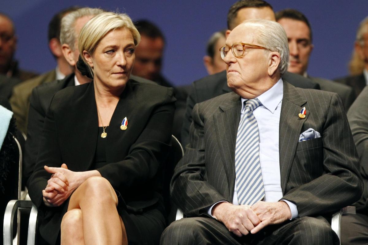 Marine Le Pen e Jean-Marie Le Pen