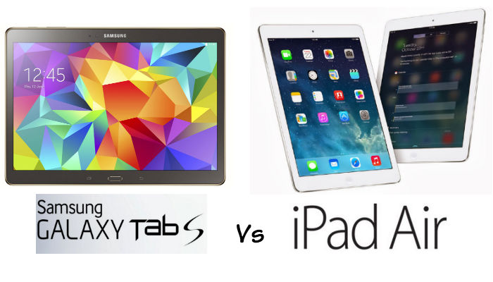 Samsung galaxy tab s vs apple ipad air which for Samsung galaxy s tablet