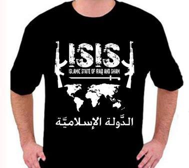 ISIS t-shirt for sale on the Facebook page of Kaos Islamic State of Iraq and Sham (Facebook)