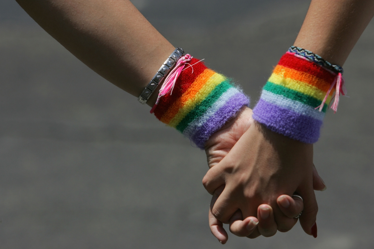 LGBT holding hands