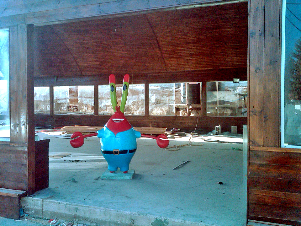 Mr Krabs visits the Krusty Krab in the West Bank