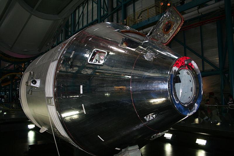 Apollo Command/Service Module CSM-119, on display at the Apollo/Saturn V Center in Florida