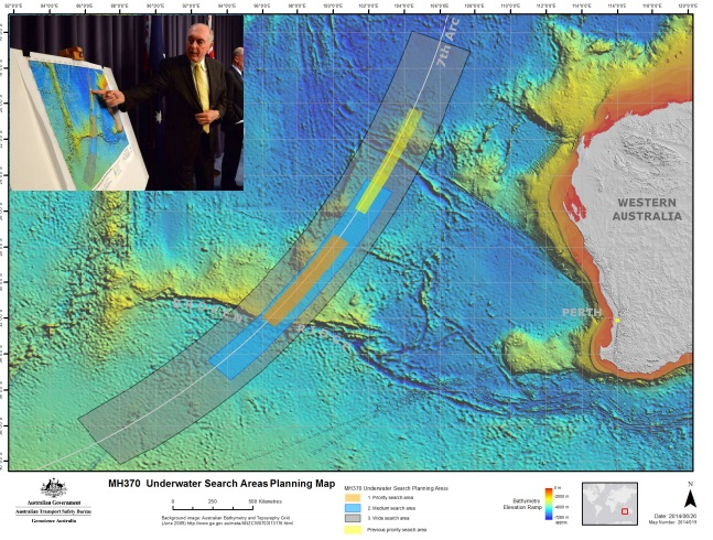 New MH370 search zone