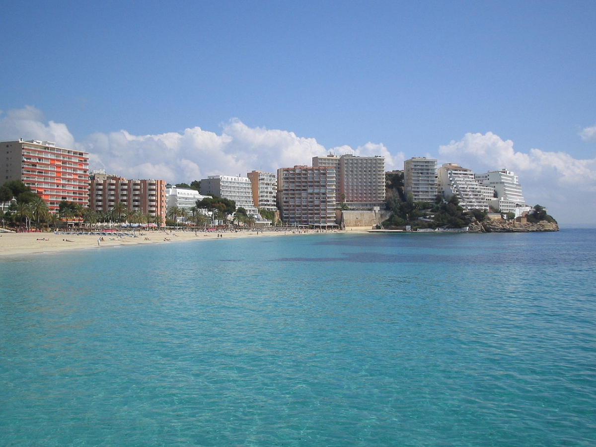 The seaside resort of Magaluf in Spain