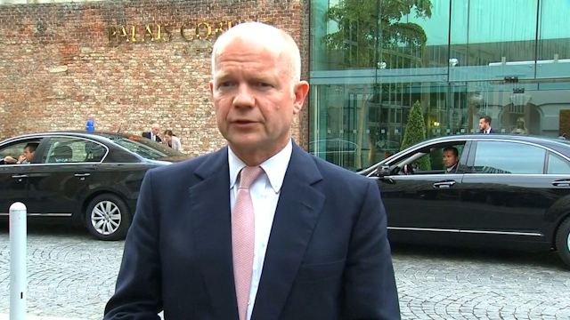 Hague: No 'Breakthrough' in Iran Talks