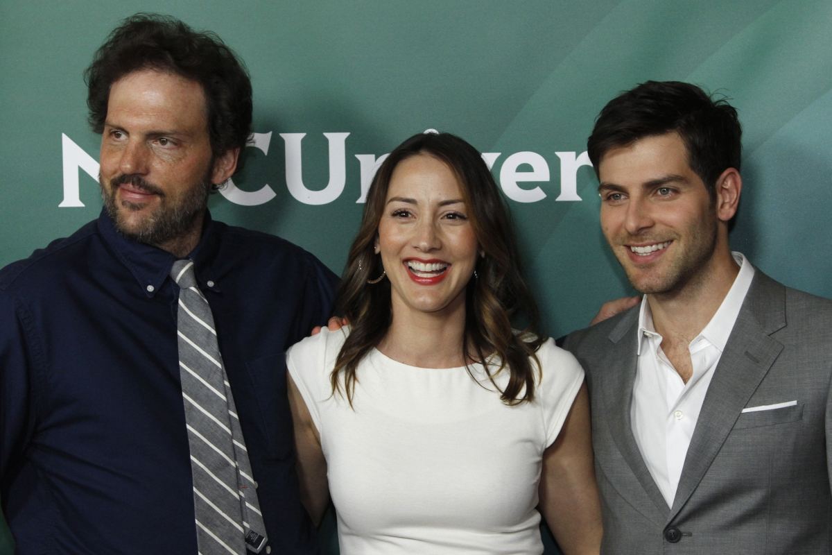 Actors Silas Weir Mitchell (L), Bree Turner, and David Guintoli, stars of NBC series Grimm