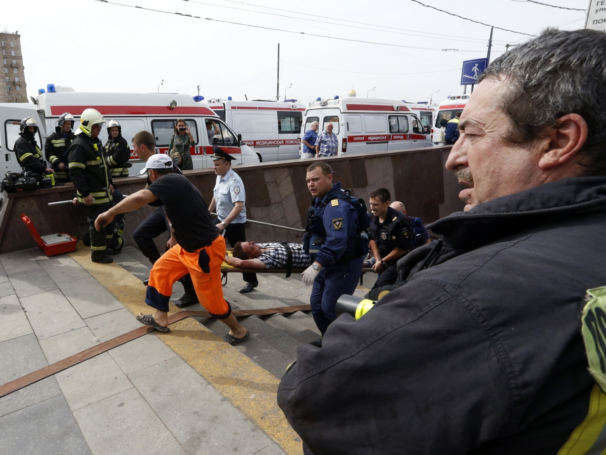 Moscow subway crash metro Russia