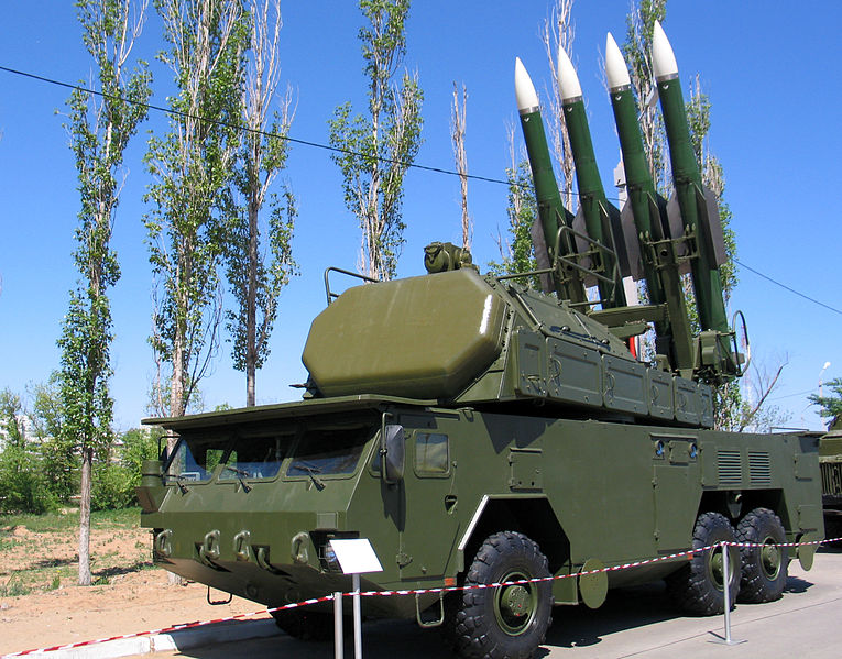 Buk-M2E soviet vehicle-mounted missile launcher