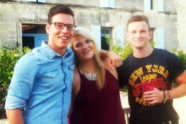 Leeds student Richard Mayne (pictured far right) is believed to have perished in the MH17 crash in Ukraine