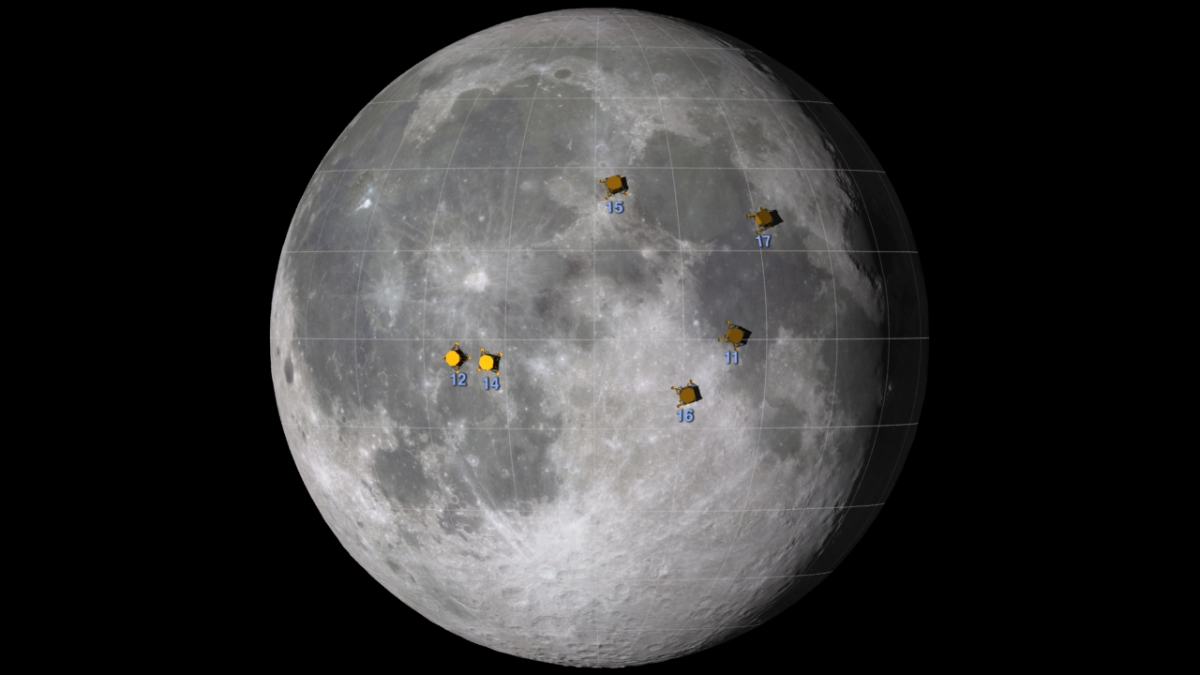 lunar landing sites visible from earth - photo #26