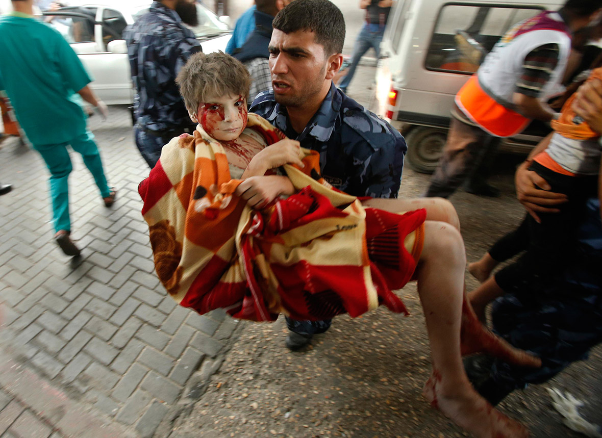 gaza wounded children