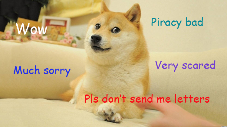 UK piracy doge