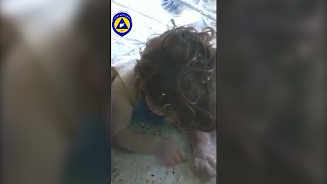 Girl Rescued from Rubble after Syria Airstrike