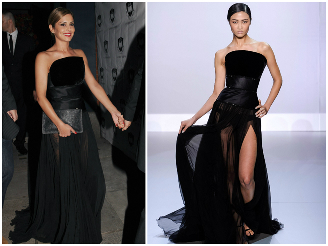 Cheryl cole 39 s sheer black wedding dress