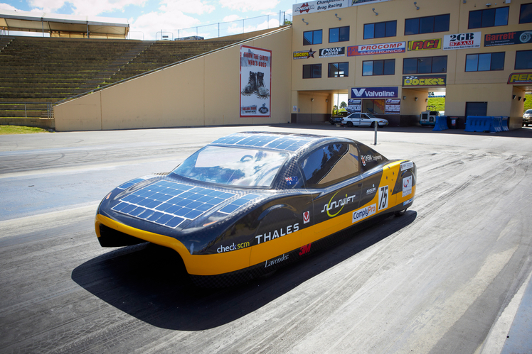 Sunswift eve solar-powered car world record